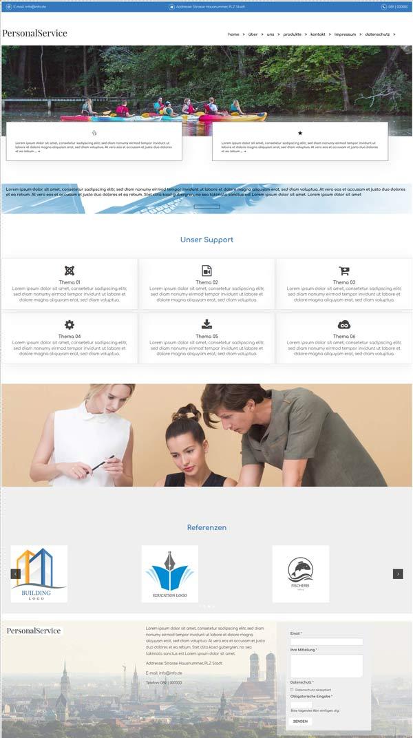 baukasten für homepage